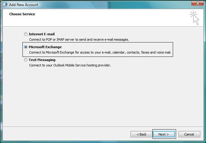 Configure Outlook 2010 Manually with Exchange 2010
